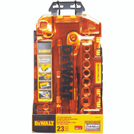 Stanley Tools DWMT73813 DeWalt 1/2 Inch Drive Combination Socket Set 23 Piece