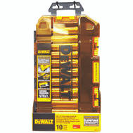 Stanley Tools DWMT73814 DeWalt Socket Wrench Set Deep SAE 1/2 Inch Drive 10 Piece With Lockable Stacking Case