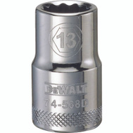 Stanley Tools DWMT74568OSP DeWalt Socket 1/2in Drive 12pt 13mm