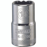 Stanley Tools DWMT74570OSP DeWalt Socket 1/2in Drive 12pt 14mm