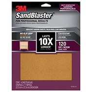 3M 20120-G-4 Sand Blaster Sandpaper Grip 120 9X11in 4Sht 4 Pack