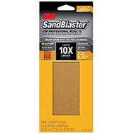 3M 11220-G-6 Sand Blaster Sandpaper Grip 220 3-2/3X9in 6 Pack