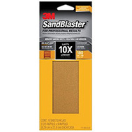 3M 11180-G-6 Sand Blaster Sandpaper Grip 180 3-2/3X9in 6 Pack