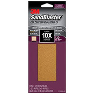 3M 11120-G-6 Sand Blaster Sandpaper Grip 120 3-2/3X9in 6 Pack