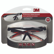 3M 47090H1-DC Secure Fit BLK/RED Safety Glasses