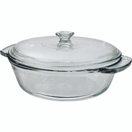 Anchor Hocking AHG18 Oven Basics Glass Casserole Dish With Cover 2 Quart Clear
