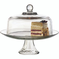 Anchor Hocking 87892L13 Cake Dome Set Glass Lid/Bttm
