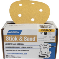 Norton 07660701644 Disc Sndg Adh-Bk 120G 50Pk 5In