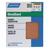 Norton 05507 Woodsand Garnet Sandpaper Surface Preparation 9 Inch By 11 Inch