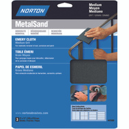 Norton 47820 Metalsand Cloth Emery 9X11in Hndy Pk Med 3 Pack