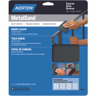 Norton 47835 Metalsand Cloth Emery 9X11in Hndy Pk Crs 3 Pack