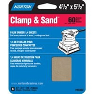 Norton 48302 Multisand Sanding Sheet 4.5X5.5 60 Grit 6 Pack