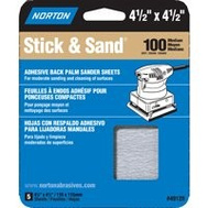 Norton 05452 Multisand 4.5 X 4.5 Stick And Sand Sheet 100 Grit