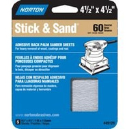Norton 49129 Multisand 4.5 By 4.5 Stick And Sand Sheet 60 Grit