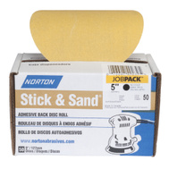 Norton 07660749239 Disc Sdg Adh-Bk No-Hl 150G 5In 50 Pack
