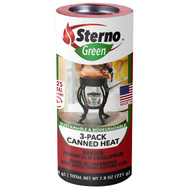 Sterno 20602 3 Pack Canned Heat Entertainment Cooking Fuel
