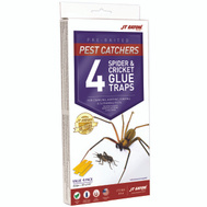 JT Eaton 844 Pest Catchers Pre-Baited Spider And Cricket Glue Trap Pack Of 4
