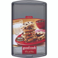 Bradshaw 04022 Good Cook Cookie Sheet Non-Stick Large 17 By 11 Inches
