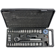 Great Neck PSO40H 40 Piece Ratchet and Socket Set 1/4 Inch and 3/8 Inch Drives