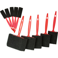 Great Neck 17502 10 Piece Disposable Foam Paint Brush Set