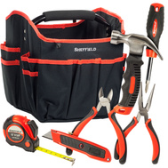 Great Neck 60080 Sheffield 7 Piece Home Tool Set with Foldable Open Tool Bag