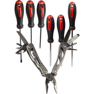 Great Neck 64001 Sheffield 6 Piece Cushioned Grip Screwdriver Set With 12 In 1 Multi Tool