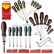 Great Neck 92051 71 Piece Ergonomic Rubber Grip Screwdriver Set