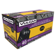 Vulcan FG-03812-11 33 Gallon 1-1/4 Mil Trash Bag Black