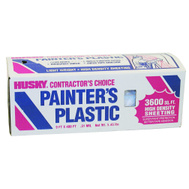 Husky FG-P9941-06D Painters Plastic Poly Sheeting.35 Mm 9 Foot By 400 Foot
