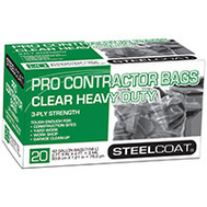 Petoskey Plastics FG-P9934-51 Steelcoat Contractor Heavy Duty Trash Bags 42 Gallon 3 Mil Clear