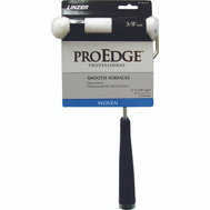 Linzer MT102-11-6IN ProEdge 6 Inch 1/2 Inch Nap Mini White Woven Roller Cover And 11 Inch Handle