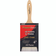 Linzer 1140-4 Project Select Natural Polyester One Coat Paint & Stain Brush 4Inch