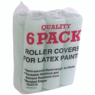 Linzer RC139 9 Inch 3/8 Inch Nap Polyester Latex Paint Roller Cover Pack Of 6