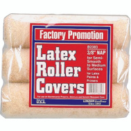 Linzer B2383 9 Inch By 3/8 Inch Nap Semi Smooth Latex Roller Cover 3 Pack