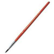 Linzer 9303-1 Red Sable Short Handle Round Artist Brush 3/8 Inch Trim
