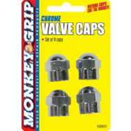 Hopkins 22-5-08837-M Monkey Grip Chrome Hex Valved Cap
