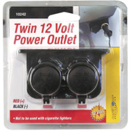 Custom Accessories 10242 12 Volt Auxiliary Twin Outlet