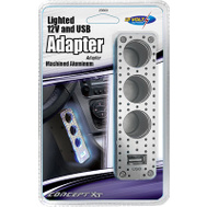 Custom Accessories 23600 Triple Socket With Lighted Usb