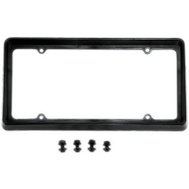 Custom Accessories 92502 BLK PLAS License Frame