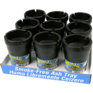 Custom Accessories 93365D Smokeless Ashtray Pack Of 9 In Display