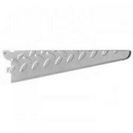 Knape & Vogt 0202-14PM John Sterling Heavyweight Diamond Plate Wood Shelf Bracket 14 Inch Platinum