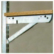 Knape & Vogt BK-0103-11 John Sterling 10 Inch Galvanized Steel Double Shelf Bracket With Brace