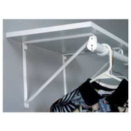 Knape & Vogt RP-0045-WT John Sterling Bracket Shelf/Rod Non-Adj Wht