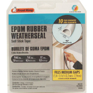 Thermwell V25G Frost King 5/16 Inch By 1/4 Inch By 17 Foot Gray D Section Epdm Rubber Weatherstrip Tape