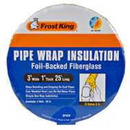 Thermwell SP42X/18 Frost King Fiberglass Pipe Wrap Insulation 25 Foot Roll