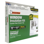 Thermwell V95 Frost King 62 Inch By 210 Inch Extra Large Window Insulation Kit