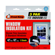 Thermwell V73/3H Frost King Window Insulator Kit For 3 Standard Windows