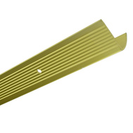 Thermwell H4128FB3 Frost King 1-1/8 Inx 3 Foot Satin Gold Fluted Stair Edging