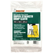 Thermwell P470 Plastic Drop Cloth 9 By 12 Foot By 0.47 Mil Clear
