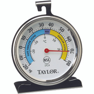 Taylor 5924 Classic Series Stainless Steel Refrigerator And Freezer Thermometer